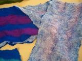 Sciarpa in feltro nuno (lana e seta)