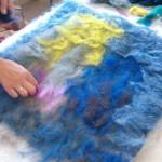 Stesura della lana.